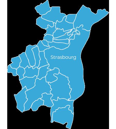 Zones d'intervention d'Euro Dom pour les prestations de ménage